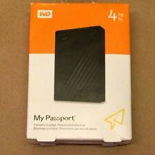 WD My Passport 4TB External Hard Drive - Black (BRAND NEW IN