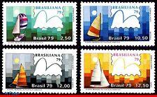 1608-11 BRAZIL 1979 SAILING, BOATS, BRASILIANA 79, PHILATELY, MI# 1704-07, MNH