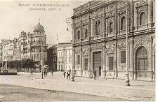 Tarjeta Postal Sevilla Ayuntamiento calle Canovas del castillo facsimil (CI-34)