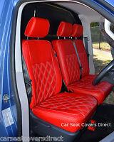 Volkswagen VW Transporter T5 Genuine Fit Van Seat Covers Red Diamond No Logos