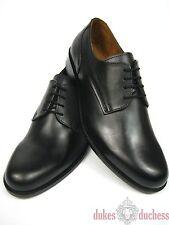 Manz Herren Business Leder Schuhe 162093 K-Weite extra weit schwarz Plain Derby