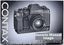 Contax RTS Instruction Book, More Camera Manuals & Operating Guides Listed