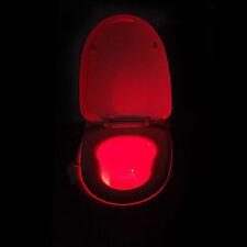 8color LED Sensor ACTIVADO Movimiento Baño LED inodoro Luz De Noche Baño noche