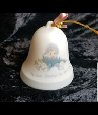 """1988 Enesco Precious Moments Christmas Bell """"May God Blessing Fall Upon You"""""""