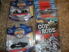 4 LOT JADA BADGE CITY HEAT POLICE CORVETTE HOT WHEELS COP ROD NOMAD MAISTO WAGON