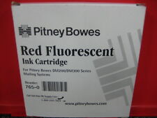 NEW-GENUINE PITNEY BOWES RED FLOURESCENT INK CARTRIDGE DM200 300 400 765-0-SALE