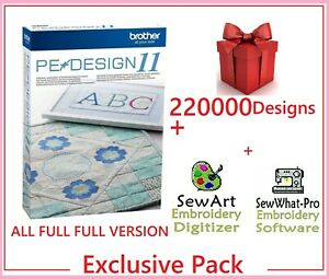 Brother PE Design 11 Software Embroidery ⭐+220 000 Designs ⭐ FULL VERSION ⭐