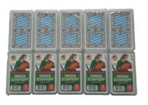 10 x Schafkopfkarten ASS Bayerisches Bild Tarock 36 Blatt in Kunststoffbox
