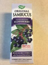 PACK of 1: Nature's Way Sambucus Black Elderberry Syrup 8 Fl Oz UPC 033674153321