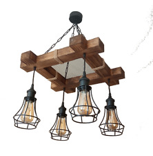 Wooden Chandelier is Made of Natural Wood, Ceiling Light, Ceiling Fixtures