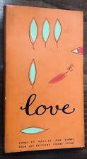 EO 1964 Lowell A. Siff : LOVE conçu et réalisé par VANNI (éd. Pierre Tisné)