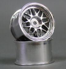 Kawada 1/12 RC Car MINI WHEELS Rims MESH CHROME TUM26P (2PCS)