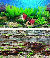 "31"" Double Sided Aquarium Background Backdrop Fish Tank Reptile Vivarium Marine"