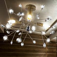 Kristall Decken Blätter Beleuchtung Landhaus Stil Leuchte Ess Zimmer Lampe Rost