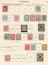 MONTSERRAT: 1876-1932 Examples - Ex-Old Time Collection - 2 Sides Page (33189)