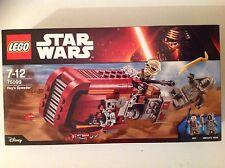 New LEGO Star Wars Rey's Speeder Set 75099 with Mini Figures Rey & Unkar's Thug.