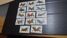 NEVIS 1991 SG 578A-591A BUTTERFLIES MNH