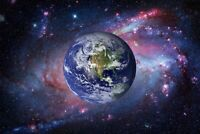 A1 | Planet Earth Poster Art Print 60 x 90cm 180gsm Space Science Fun Gift #8287