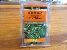 Bullet Head Nails 50 x 2.80 mm QTY 500g Bright Smooth Indoor use Nail