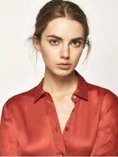 Massimo Dutti Silk Collared Shirt Top New