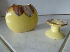 Keramik Kerzenhalter und passende / zugehörige Vase