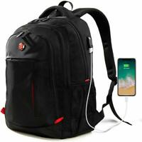 USB Port Laptop Backpack Travel Waterproof Computer Bag, Anti-theft School Bag