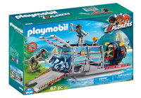 Playmobil 9433 Enemy Airboat with Raptors MIB / New