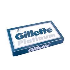 x3 Gillette Platinum Razor Blades with double edge (5 blades per one box)