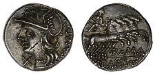 DENARIUS - DENARIO. BAEBIA. Ag. RSC 12. REPÚBLICA ROMANA. 137 a.C. XF / EBC.