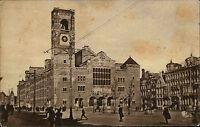 Amsterdam Niederlande Nederland Holland ~1930 Damrak Beurs Kirche Menschen Platz