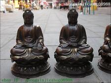 Tibet Bronze exquisite craftwork Three Amitabha Tathagata Sakyamuni Buddha Set