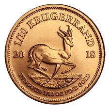 1/10 oz Gold Krügerrand 2018 - Südafrika Goldmünze Stempelglanz