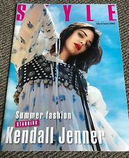 Rare Collectable May 2017 UK The Sunday Times Style Magazine Kendall Jenner