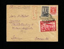 Zeppelin Sieger 85Bb 1930 Russia Flight Registered Russia Post No Route Markings