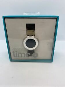 Pebble Time Round 38mm Bluetooth Smartwatch Stone & Silver Band