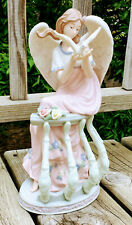 "Porcelain Hand Painted Angel 12"" Members Mark Dove Balcony New NIB 2006 Holiday"