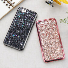 Bling Glitter Plating Shockproof Soft TPU Case Cover For iPhone Samsung Galaxy