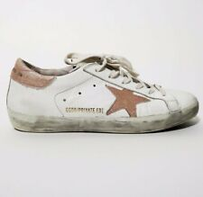 Golden Goose White and Pink Superstars sz 38 *Authentic*