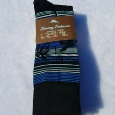 New Men's Tommy Bahama Casual Crew Socks 4 Pairs Parrot Heads Tropical