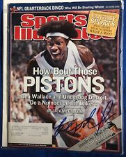 Ben Wallace Signed Sports Illustrated Magazine Autographed