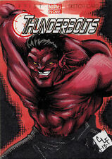 Marvel Now! 2014 Sketch Card by Chris Foreman of Red Hulk