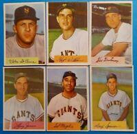 1954 Bowman vintage old baseball cards 6card N.Y. Giants Lot *Vg+/Vg-Ex/Vg-Ex+*