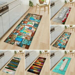 1pc Non-Slip Kitchen Door Mat Home Floor Rug Washable Carpet Anti-Oil Easy Clean
