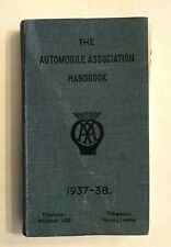 1937-1938 AUTOMOBILE ASSOCIATION AA HANDBOOK UK GB HC MAPS TOWN CITY GUIDE GD/VG