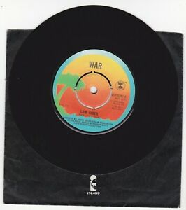 """WAR-LOW RIDER  Island  WIP 6267  7"""" VINYL 45 1976"""