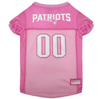 New England Patriots Licensed NFL Pets First Dog Pet Mesh Pink Jersey Sizes XS-L