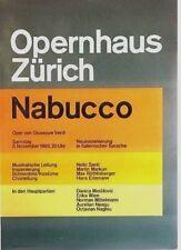 Original vintage poster ZURICH OPERA NABUCCO VERDI 1969