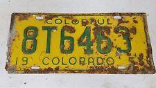 1953 COLORADO Colorful License Plate 8T6463