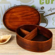 Japanese Style Wooden Lunch-box Tableware Bowl for Sushi Meal