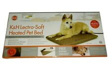 """K&H Pet Products Lectro-Soft Heated Outdoor Bed Medium Tan 19"""" x 24"""" x 1.5"""""""